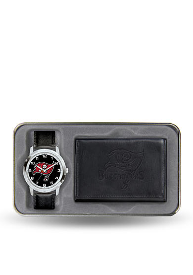 Rico Industries Tampa Bay Bucs Black Watch and Wallet Gift Set-Online Only