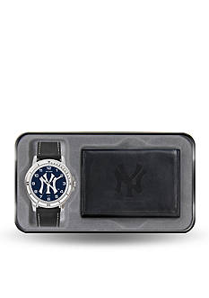 Rico Industries NY Yankees Black Watch And Wallet Gift Set-Online Only