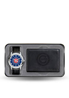 Rico Industries Chicago Cubs Black Watch and Wallet Gift Set-Online Only
