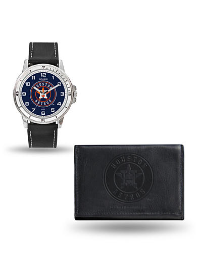 Rico Industries Houston Astros Watch and Wallet Gift Set-Online Only