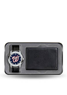 Rico Industries Washington Nationals Black Watch and Wallet Gift Set-Online Only