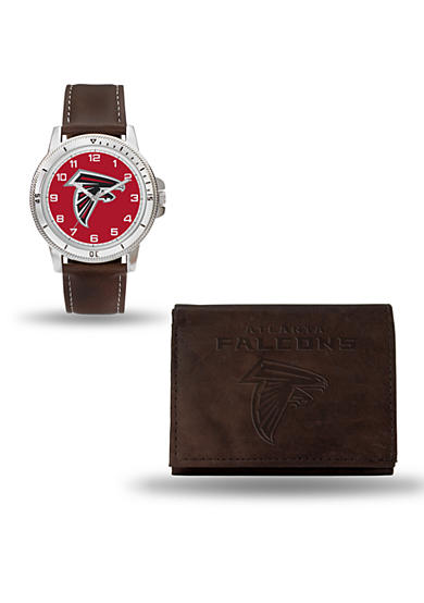 Rico Industries Atlanta Falcons Brown Watch And Wallet Gift Set - Online Only