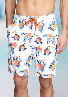 Red Camel® Tropical Toucan Print Board Shorts