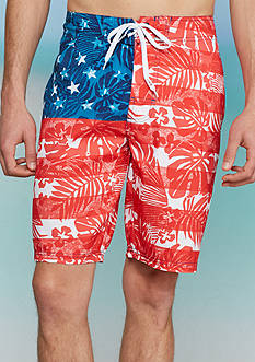 Red Camel® Tropical Flag Board Shorts