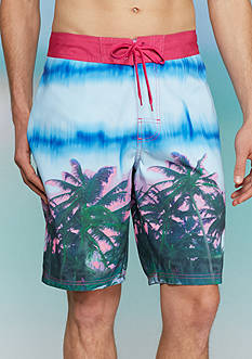 Red Camel® Tie-Dyed Island Palm Board Shorts