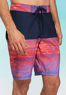 Red Camel® Blocked Sunset Board Shorts
