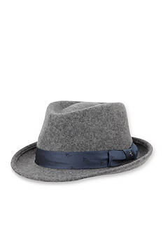 Original Penguin Wide Brim Wool Felt Fedora Hat