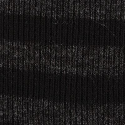 Original Penguin: Black Original Penguin Striped Knit Beanie Cap
