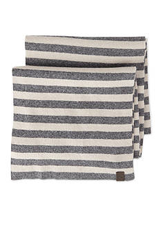 Original Penguin Striped Knit Scarf