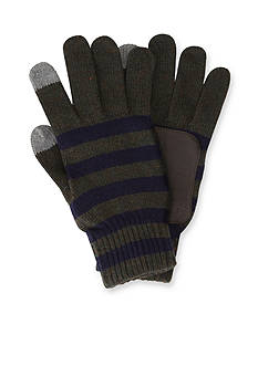 Original Penguin Touch Tek Knit Stripe Gloves