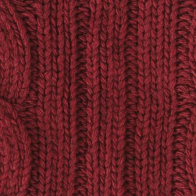 Mens Winter Scarves: Pomegranate Original Penguin Cable Knit Scarf