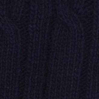 Men: Haggar: Navy Haggar Cable Knit Beanie Cap