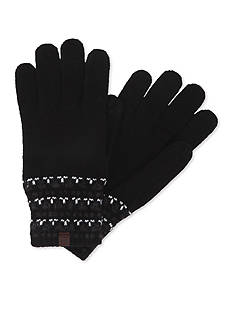 Haggar Geo Pattern Knit Gloves