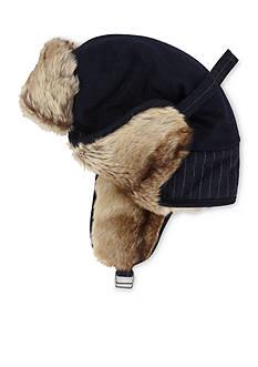 Haggar Wool Stripe Trapper Hat