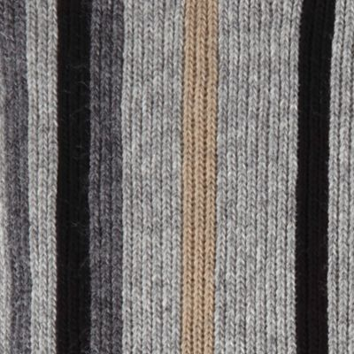 Cold Weather Shop: Accessories: Neutral Gray Haggar Striped Scarf