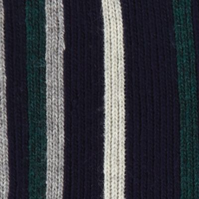 Cold Weather Shop: Accessories: Midnight Navy Haggar Striped Scarf