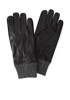 Haggar® Leather & Knit Gloves