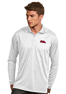 Antigua Ole Miss Rebels Long Sleeve Exceed Polo