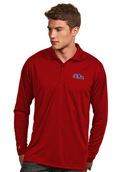 Antigua® Ole Miss Rebels Long Sleeve Exceed Polo