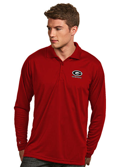 Antigua® Georgia Bulldogs Long Sleeve Exceed Polo