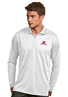 Antigua Wisconsin Badgers Long Sleeve Exceed Polo