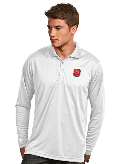 Antigua® NC State Wolfpack Long Sleeve Exceed Polo