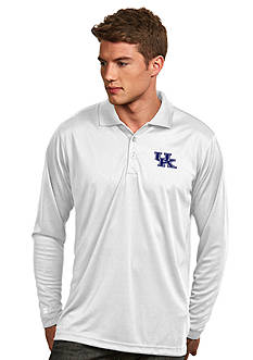 Antigua Kentucky Wildcats Long Sleeve Exceed Polo