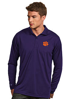 Antigua Clemson Tigers Long Sleeve Exceed Polo