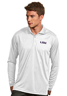 Antigua LSU Tigers Long Sleeve Exceed Polo