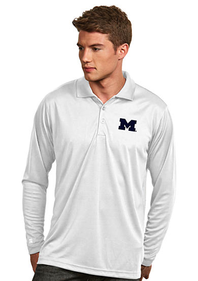 Antigua® Michigan Wolverines Long Sleeve Exceed Polo