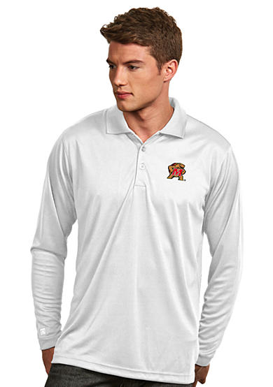Antigua® Maryland Terrapins Long Sleeve Exceed Polo