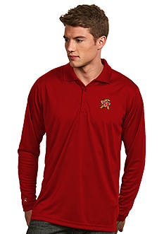 Antigua Maryland Terrapins Long Sleeve Exceed Polo