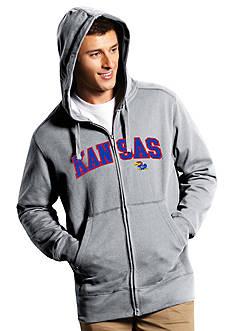 Antigua® Kansas Jayhawks Split Applique Full Zip Hoodie