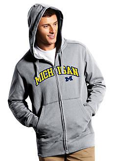 Antigua Michigan Wolverines Split Applique Full Zip Hoodie
