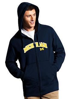 Antigua® Michigan Wolverines Split Applique Full Zip Hoodie