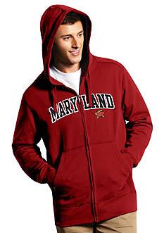 Antigua® Maryland Terrapins Split Applique Full Zip Hoodie