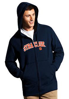 Antigua Syracuse Orange Split Applique Full Zip Hoodie