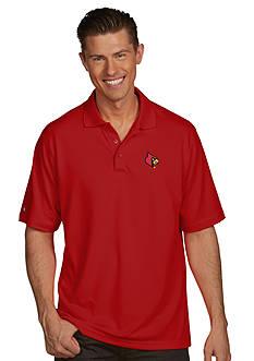 Antigua® Louisville Cardinals Pique Xtra Lite Polo