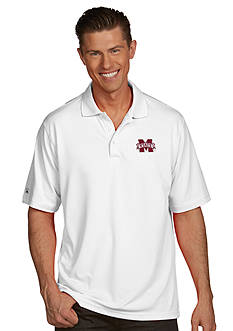 Antigua Mississippi State Bulldogs Men's Pique Xtra Lite Polo