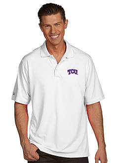 Antigua Texas Christian Horned Frog Men's Pique Xtra Lite Polo