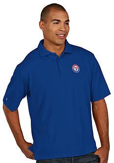 Antigua Texas Rangers Pique Xtra Lite Polo