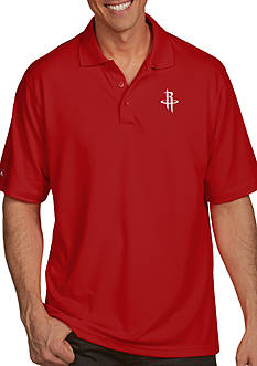 Antigua® Houston Rockets Mens Pique Xtra Lite Polo