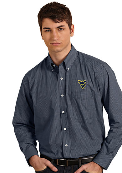 Antigua® West Virginia Mountaineers Focus Woven Shirt