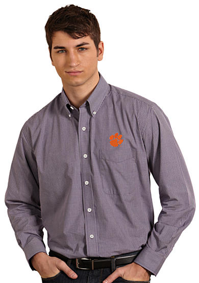 Antigua® Clemson Tigers Focus Woven Shirt