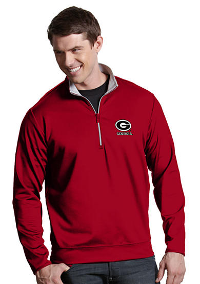 Antigua® Georgia Bulldogs Leader Pullover