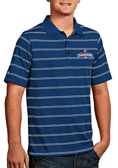 Antigua® Chicago Cubs 2016 World Series Champs Mens Deluxe Polo