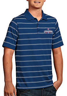Antigua Chicago Cubs 2016 World Series Champs Mens Deluxe Polo
