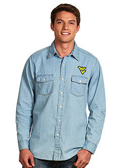 Antigua® West Virginia Mountaineers Long Sleeve Chambray Shirt