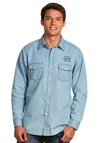 Antigua® UNC Tar Heels Long Sleeve Chambray Shirt