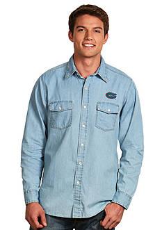 Antigua® Florida Gators Long Sleeve Chambray Shirt